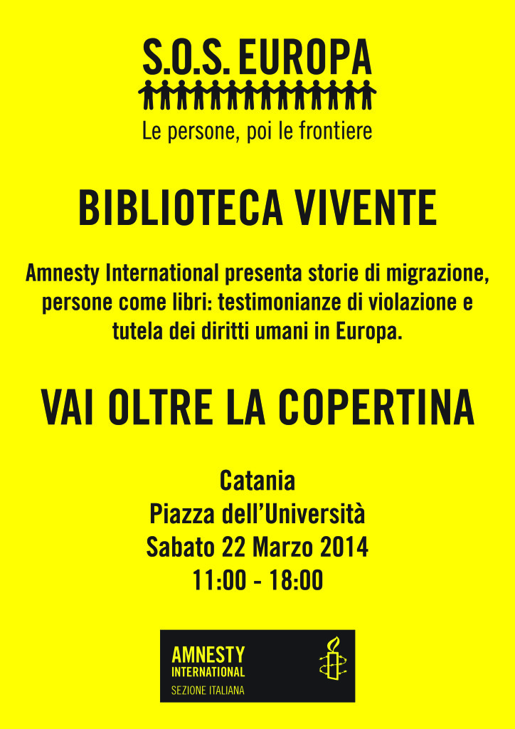 Locandina s.o.s Europa 22 Marzo