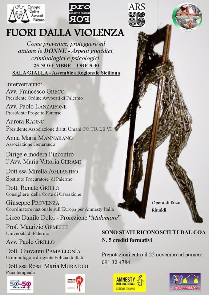 Locandina - Fuori dalla violenza - Palermo