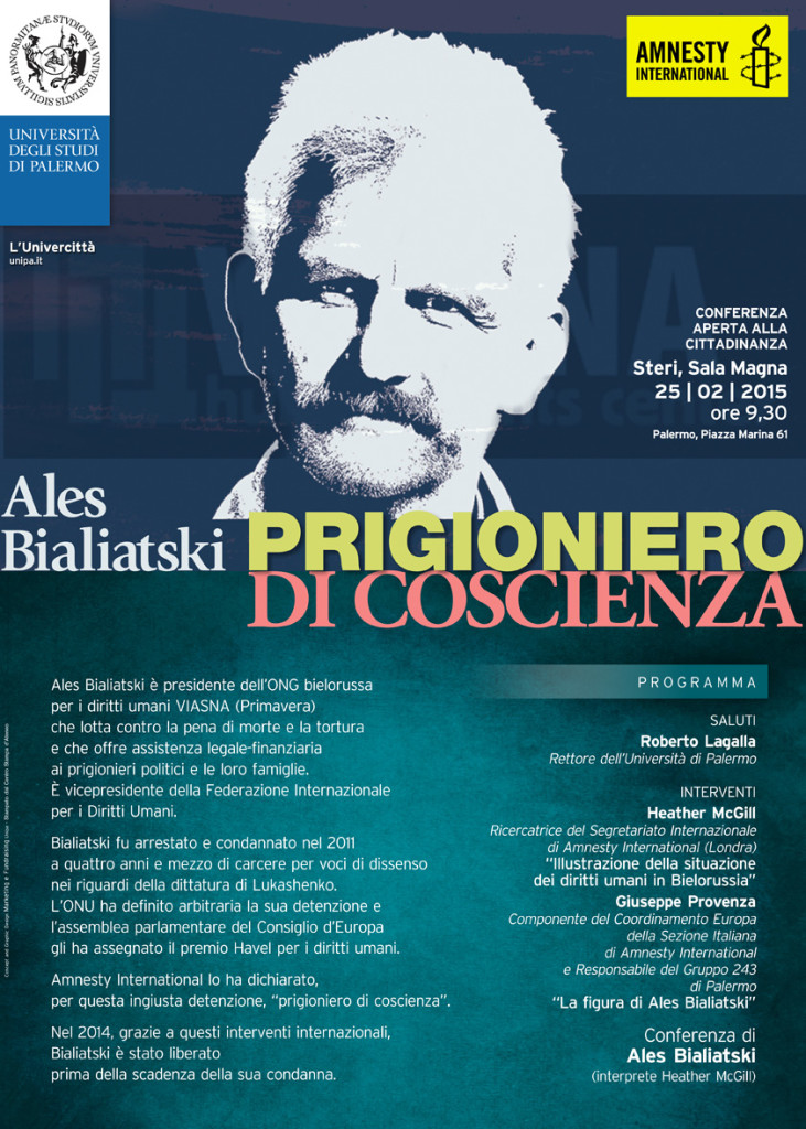 Ales Bialiatski, prigioniero di coscienza - Palermo