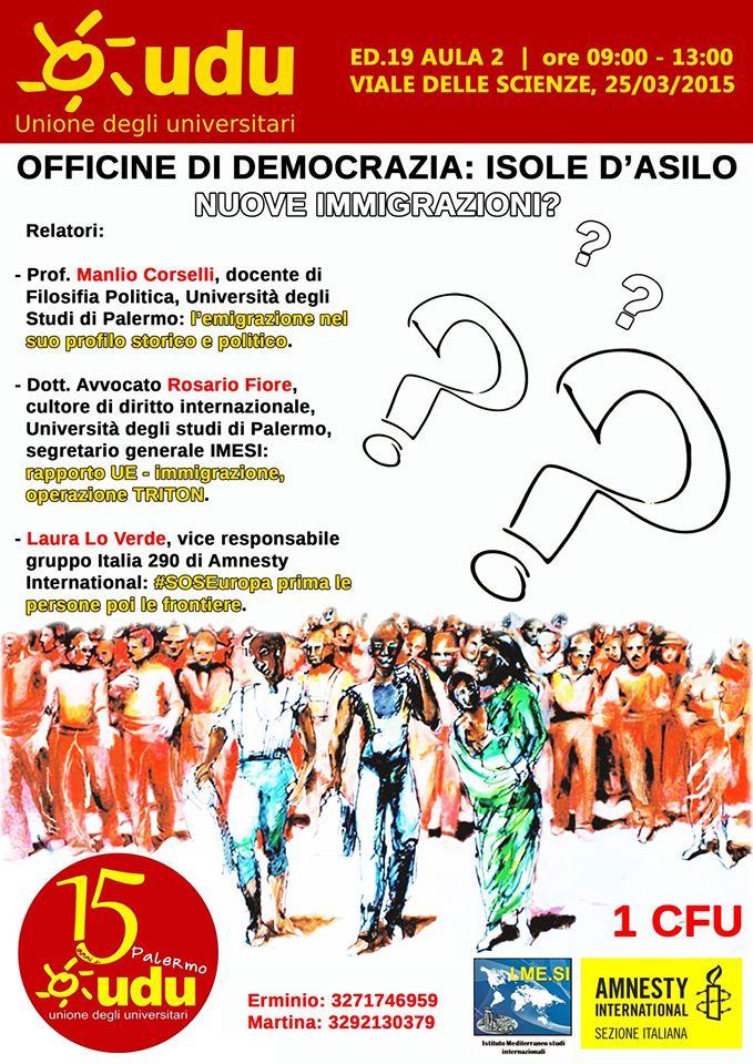 Officine di democrazia - udu palermo